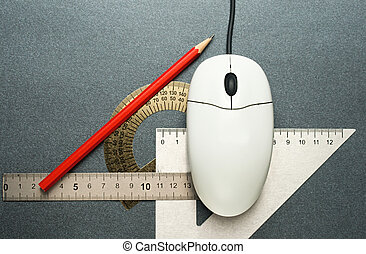 Computer mouse and drafting tools