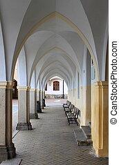 Colonnade in Telc, Czech Republic