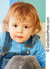 Close-up portrait of toddler - Close-up portrait of...