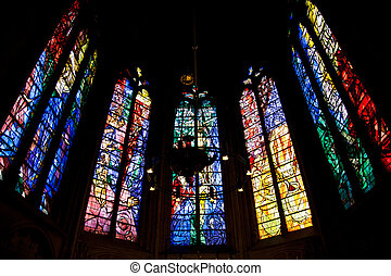 Metz cathedral - Blessed Sacrament Chapel windows by Jacques...