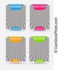 Set of trendy web banners vector illustration
