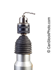 Bended drill - Broken drill with bended drill on chuck