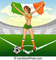 Ireland girl soccer fan