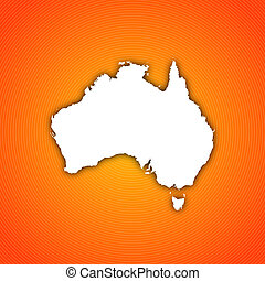 Map of Australia - Political map of Australia with the...