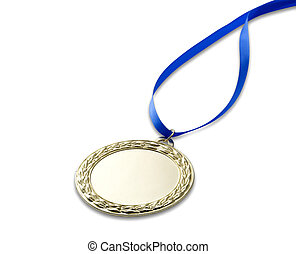 Gold olympics medal 3 with clipping path