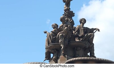 The Ross Fountain in Princes Street Gardens in Edinburgh...