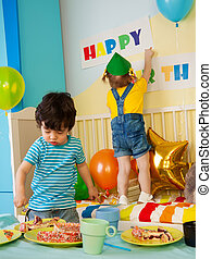 Kid's on the birthday party