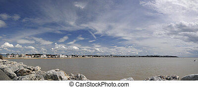 Royan Bay with Blue and Cloudy Sky