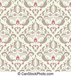 Classic seamless wallpaper - Vintage seamless wallpaper in...