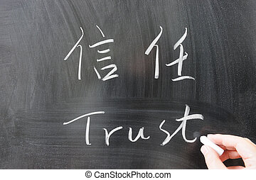 Trust word in Chinese and English
