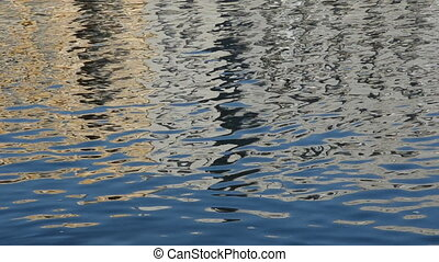 reflections on city river water