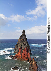 Eastern end of the oceanic island of Madeira - Scenic windy...