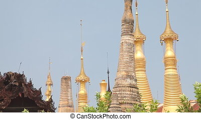 Pagoda Indein, Myanmar - Inle lake, Myanmar