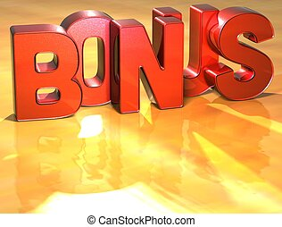 Word Bonus on yellow background high resolution 3D image