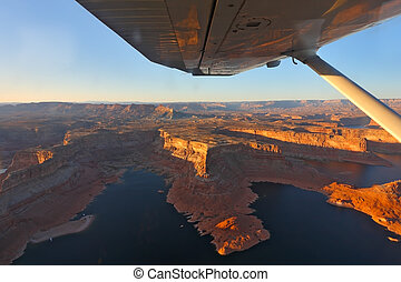 Phenomenally beautiful lake Powell photographed from the...