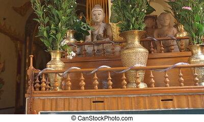 Buddha in Indein pagoda, Myanmar - Inle lake, Myanmar