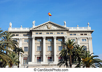 BARCELONA - Historical building (gobierno militar) in the...