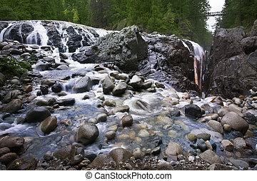 Cascade picturesque falls Englishman River Falls - Cascade...