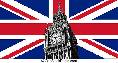 UK British Flag and Big Ben
