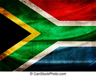 Grunge flag series - South Africa