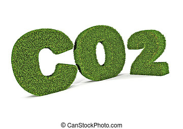 Green Co2 - A Colourful 3d Rendered Green Co2 Illustration