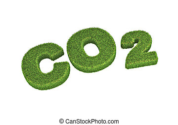 Co2 Concept Illustration - A Colourful 3d Rendered Co2...
