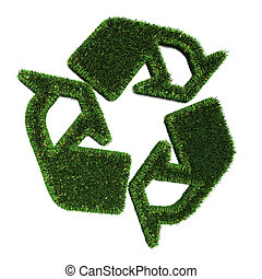Green Recycle Illustration - A Colourful 3d Rendered Green...