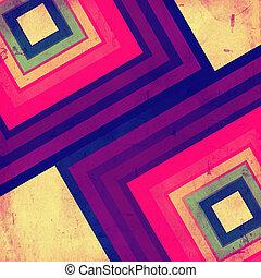 retro background - vintage background color squares over old...