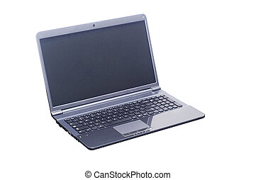 isolated laptop computer with 2 clipping path (laptop...