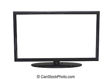 isolado, apartamento, tela, tv, ou, computador, monitor