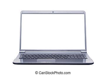 isolé, ordinateur portable, informatique