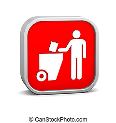 Trash sign