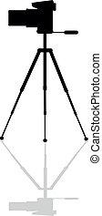 Zoom digital camera on a tripod - Icon Zoom digital camera...