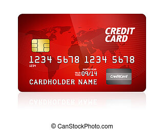 Credit Card Isolated - High detail illustration of a plastic...