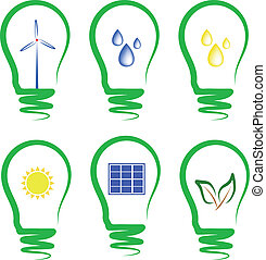 concept, symbolizing the alternative energy - concept,...