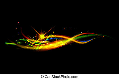 Abstract Background - illustration of swirly wave on...