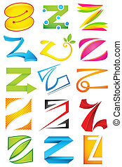 Different Icon with alphabet Z