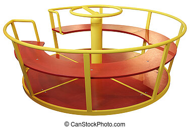 Childrens carousel - Carousel for children playing in the...