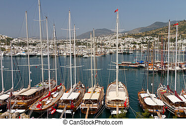 Bodrum Marina - Gulets at Bodrum Marina, Turkey