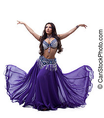Oriental dancer in purple dress