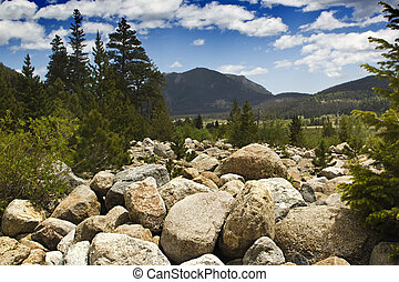 Rocky Mountain National Park - View of Moraine Meadow from...