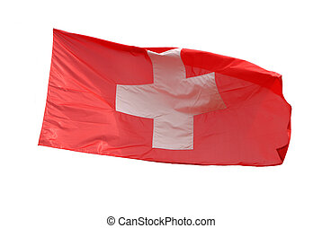 Isolated swiss flag with