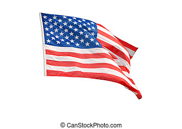 Isolated American flag