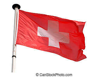 Isolated swiss flag