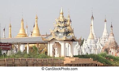 Pagoda on Inle lake, Myanmar - Inle lake, Myanmar