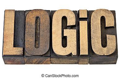 logic word in wood type
