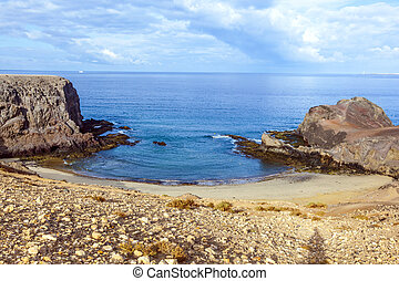 Playa de Papagayo Parrots beach on Lanzarote, Canary...