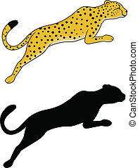 Tiger jumping - Vector Illustration Of Tiger jumping
