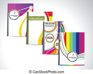 abstract colorful flayer set vector
