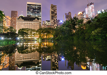Central Park - Summertime in New York City's Central Park at...